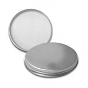 58/400 Silver Metal Basic Lid w Liner