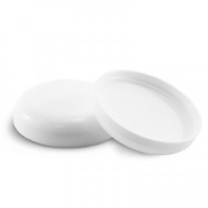 70/400 White Dome Lid w Liner