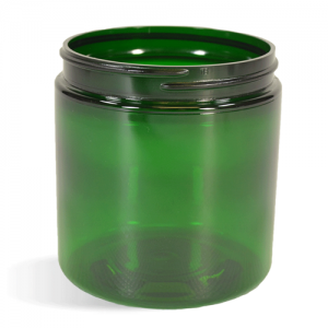 Green, Basic Plastic Jar - 8oz (70/400)