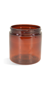 Amber, Basic Plastic Jar - 4oz (58/400)