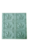 Cannabis Leaves Soap Mold Tray (Milky Way)