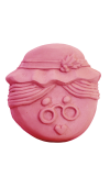 Mrs. Claus Face Soap Mold (Milky Way)