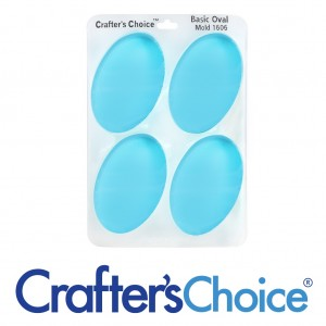 Crafter's Choice Oval Basic Silicone Mold 1606