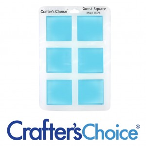Crafter's Choice Square Guest Silicone Mold 1609