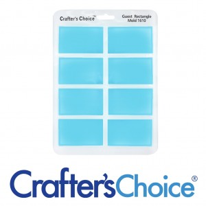 Crafter's Choice Rectangle Guest Silicone Mold 1610