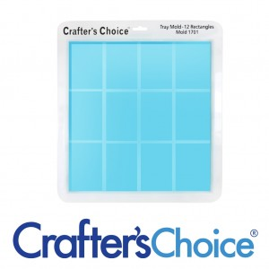 Crafter's Choice Tray 12 Rectangles Silicone Mold 1701