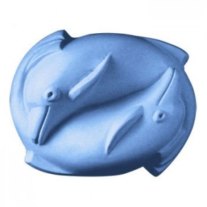 2 Dolphins Soap Mold (Milky Way)