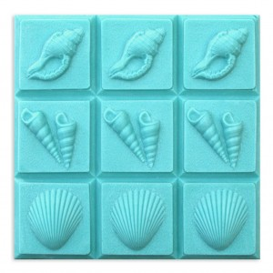 3 Shells Soap Mold - Tray (Milky Way)