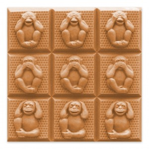 3 Wise Monkeys Soap Mold - Tray (Milky Way)