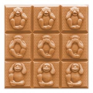 3 Wise Monkeys Soap Mold - Tray (Milky Way)