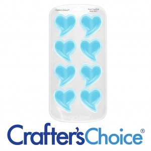 Crafter's Choice Heart Teardrop Small Silicone Soap Mold 4001