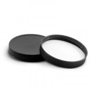 70/400 Black Ribbed Lid w Liner