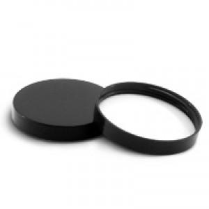 89/400 Black Smooth Lid w Liner