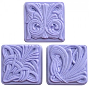 Art Nouveau Tiles Soap Mold (Milky Way)