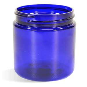 Blue, Basic Plastic Jar - 4oz (58/400)
