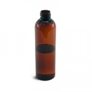 Bullet Amber Bottle, 4 oz (118 mL) - 20/410