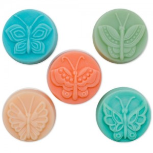Butterfly (5) Guest Soap Mold (Milky Way)