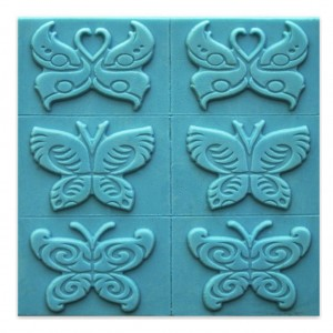 Butterfly 6 Soap Tray Soap Mold (Milky Way)