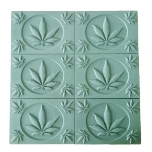 Cannabis Leaves Soap Mold Tray (Milky Way)