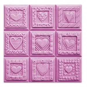 Crazy Hearts Soap Mold - Tray (Milky Way)