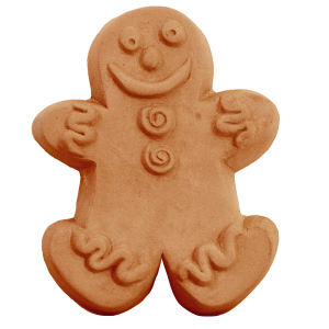 Gingerbread Man 3 Soap Mold (Milky Way)