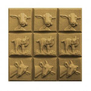 Goats Tray Soap Mold (Milky Way)