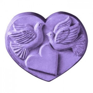Heart With Doves Soap Mold (Milky Way)