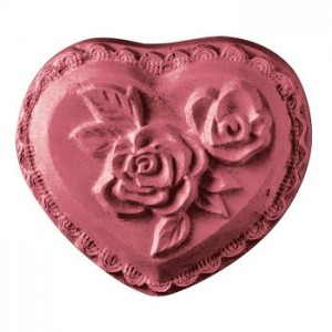 Heart With Rose Soap Mold (Milky Way)
