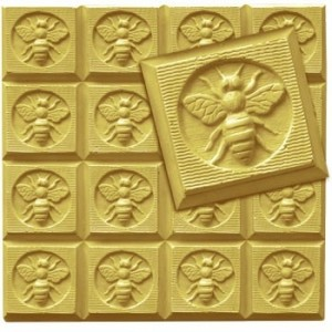 Honeybee Guest Tray Soap Mold (Milky Way)