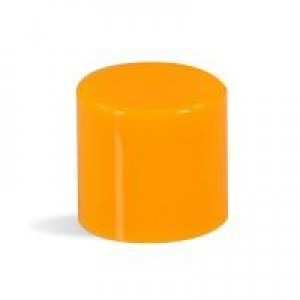 Lip Tube Round Cap, Orange
