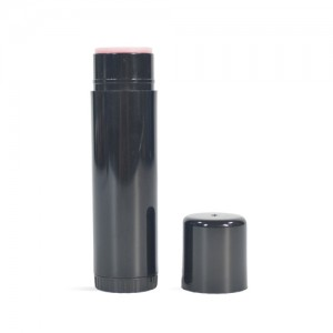 Lotion Bar Tube, 0.5 oz, Round BLACK