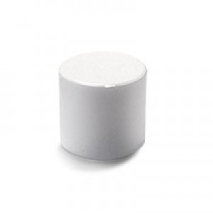 Lip Tube Round Cap, White