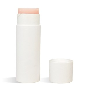 0.5 oz Paperboard Lip Tube & Cap Set, White