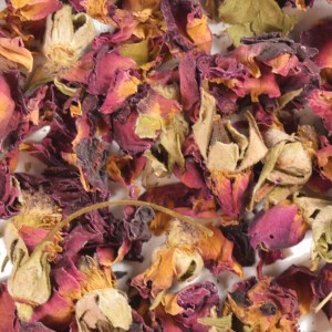 Rose Petals, Red (Buds and Leaves)