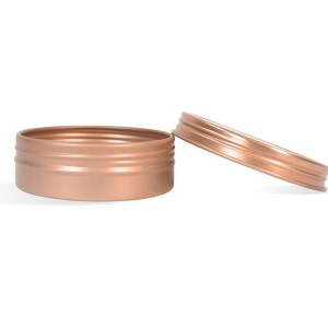 1 oz Shallow Rustproof Tin & Screw Top Set - Rose Gold