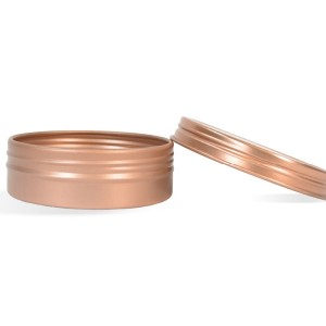 2 oz Shallow Rustproof Tin & Screw Top Set - Rose Gold