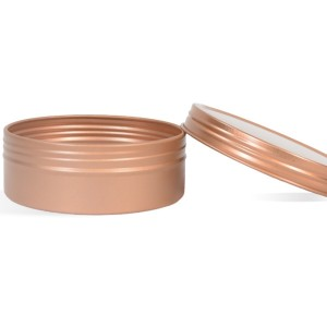 4 oz Shallow Rustproof Tin & Screw Top Set - Rose Gold