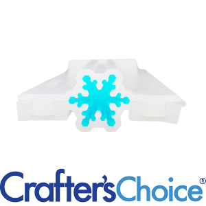 Crafters Choice™ Snowflake Mini Column Silicone Soap Mold 2032