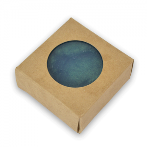 Soap Box - Square with Round Window, Kraft