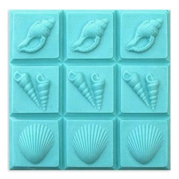 3 Shells Soap Mold - Tray (Milky Way)