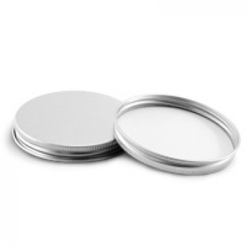 70/400 Silver Metal Lid w Liner