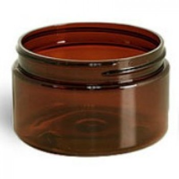 Amber, Heavy Wall Plastic Jar - 120 mL (70/400)