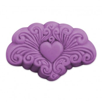 Arabesque Heart Guest Soap Mold (Milky Way)