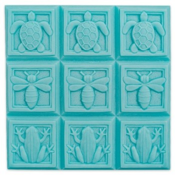 Art Deco Fauna Soap Mold Tray (Milky Way)