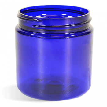 Blue, Basic Plastic Jar - 8oz (70/400)