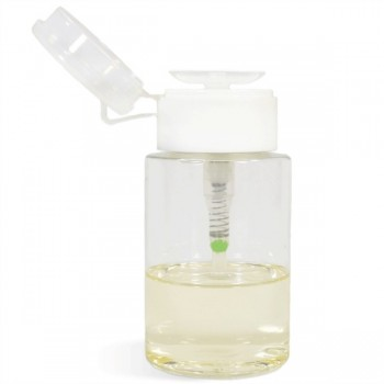Dispensing Bottle w One-Touch Pump Set, Clear, 6oz
