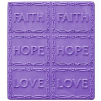 Faith, Hope, Love Tray Mold (Milky Way)