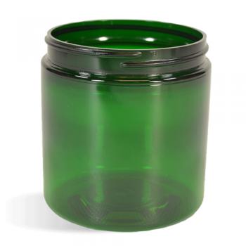 Green, Basic Plastic Jar - 4oz (58/400)