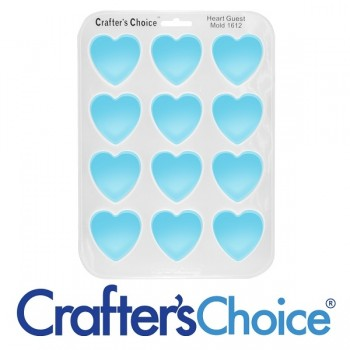 Crafters Choice™ Heart Guest Silicone Mold 1612