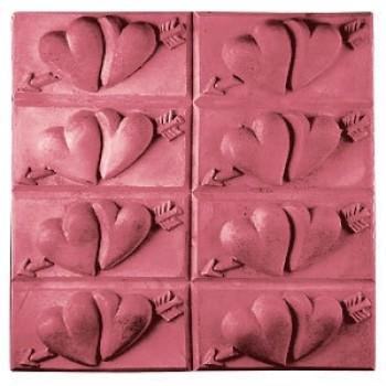 Heart Tray Soap Mold (Milky Way)